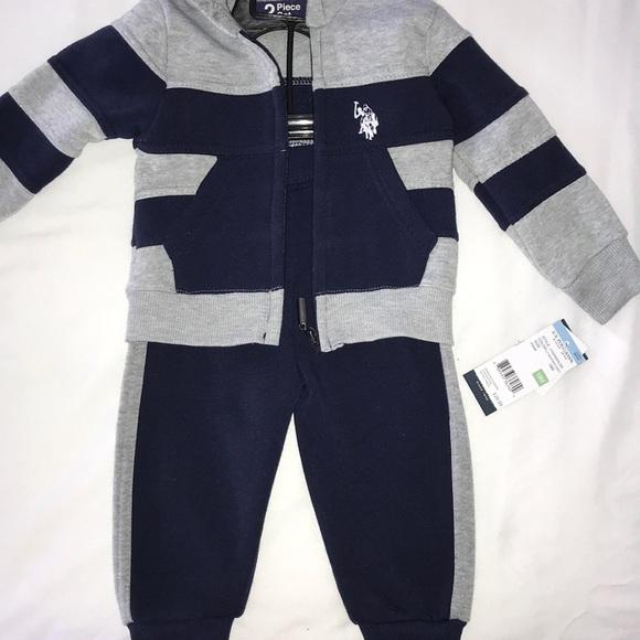 b57467f8 18 month old boy 2pc Polo sweatsuit set NWT